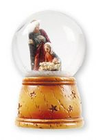 Small Christmas Nativity Holy Family Waterball with Fibre Optic Light